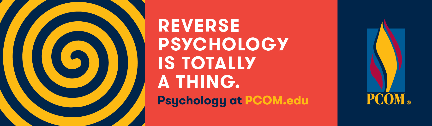 PCOM - Reverse Psychology is Totally a Thing - outdoor billboard