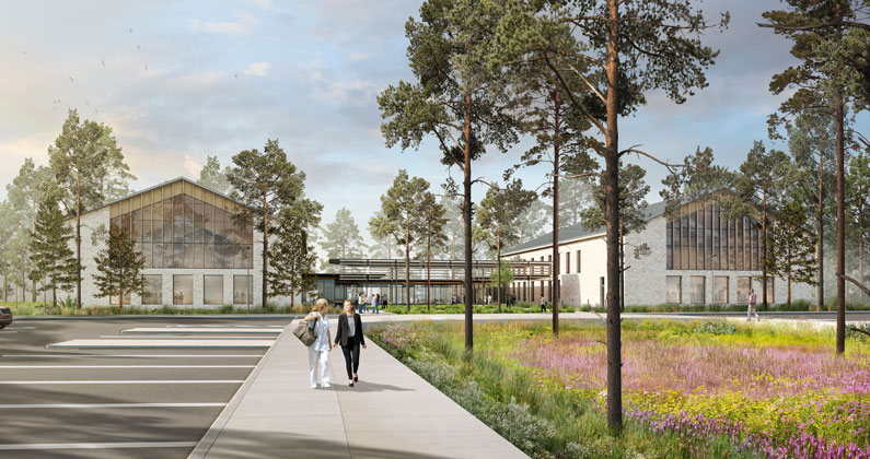 Principal architectural firm Sasaki, Inc. has released architectural renderings for PCOM South Georgia—an additional location of Philadelphia College of Osteopathic Medicine (PCOM).