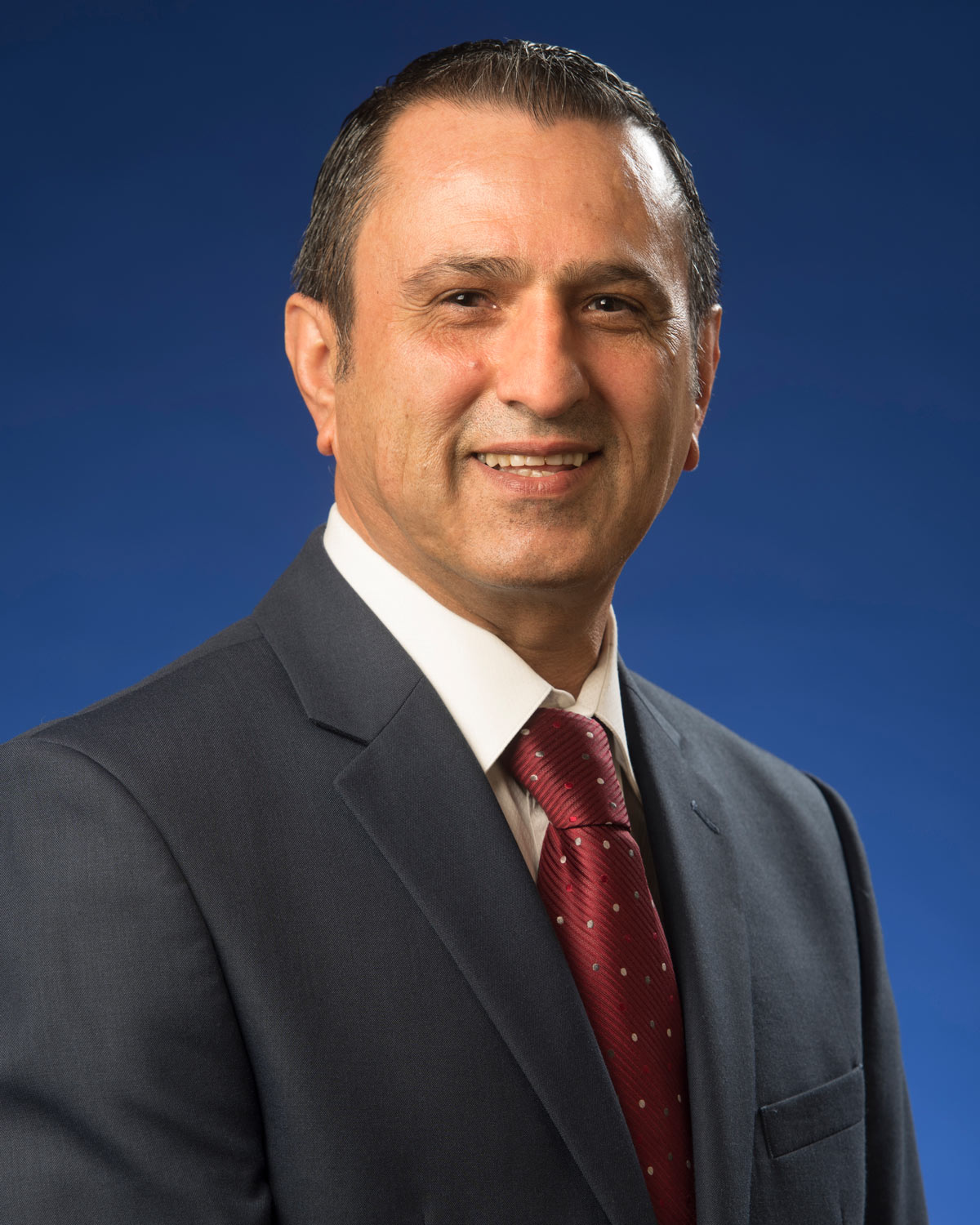 Professional headshot photograph of Ali Moradi, MD, MPH, DR.PH