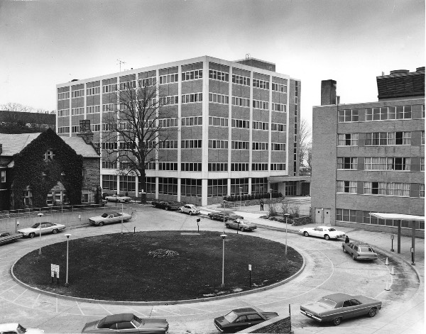 Historical photo of PCOM Evans Hall