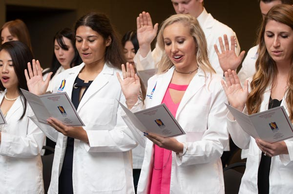 PA and PT Students Receive White Coats in Ceremonies