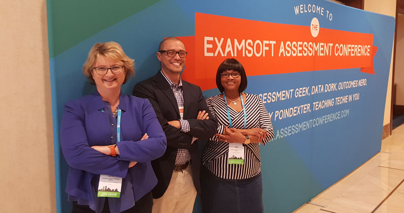 Louise Jones, Doug Koch and Cynthia Coleman presented at the Innovations in Assessment conference recently.