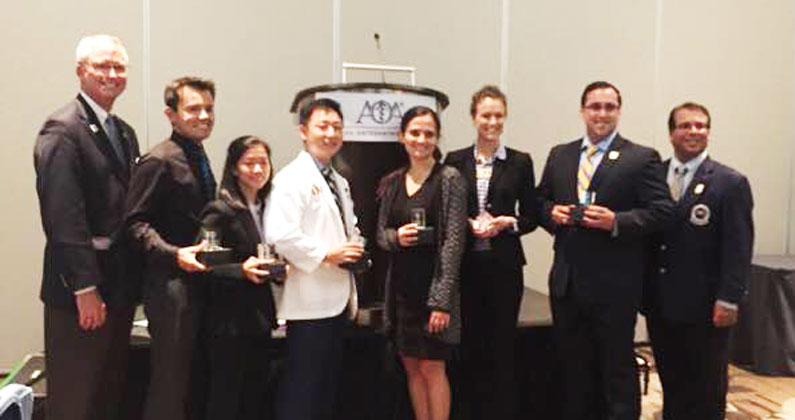 With the guidance and encouragement of their faculty mentors, two osteopathic medical students from GA-PCOM won awards for research presented at the 121st Osteopathic Medical Conference and Exposition (OMED), held at the Anaheim Convention Center in Anaheim, California, this September.