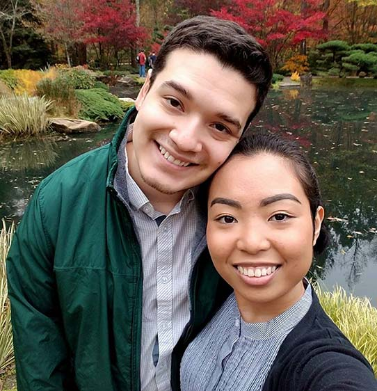 Photograph of Kevin Guzman (DO '19) and his fancée Alyssa Ouano