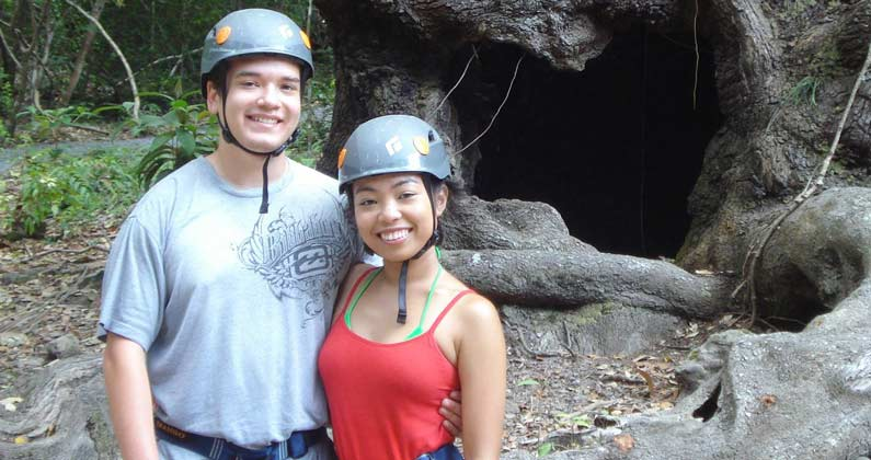 Photograph of Kevin Guzman (DO '19) and his fancée Alyssa Ouano traveling