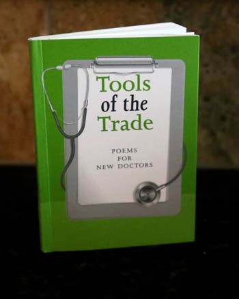Photograph of the poetry book Tools of the Trade: Poems for New Doctors