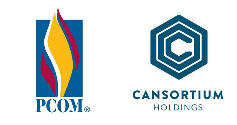 PCOM and Cansortium Holdings logos