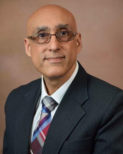 Professional headshot photograph of Sandeep Vansal, PhD, RPh