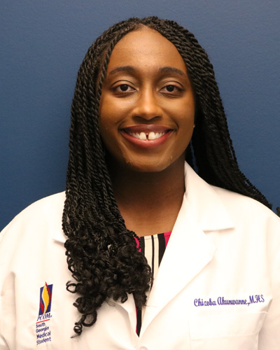 Medical student Chizoba Akunwanne (DO '23) will train to practice medicine in rural areas