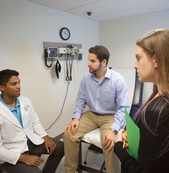 The PCOM integrated primary care team talks about unique health education and wellness programs in the family medicine centers.  Patients are offered wellness groups focused on diabetes support, nutrition, exercise, managing chronic pain, and stress management.
